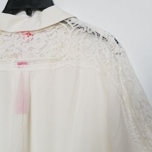 Catherine Maladrino Ivory Button Down